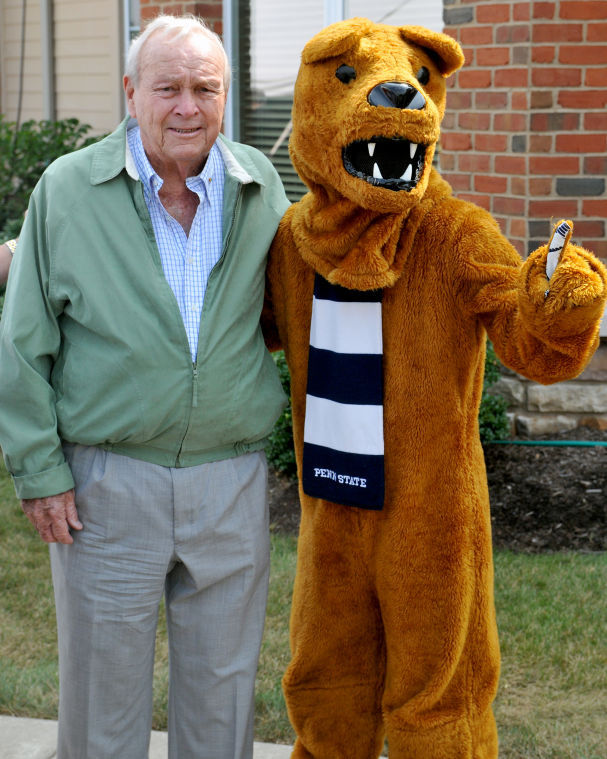 Arnold Palmer - Nittany Lion - Photo credit Stephen Poppe/Daily Collegian  sc 1 st  Golfdom & Arnold Palmer Design Co. to create park for Penn State retirement ...