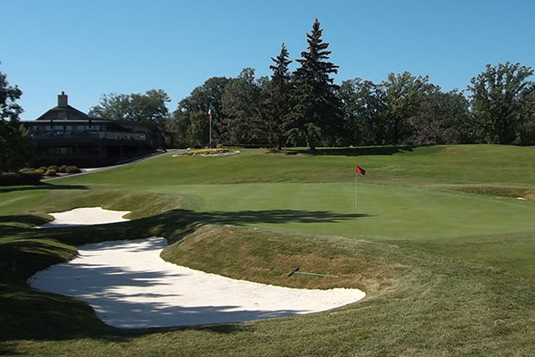 Hole No. 18 after renovations.