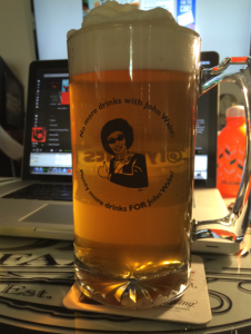 Bikini Beer, poured at 39 degrees Fahrenheit, at Golfdom's editorial HQ.