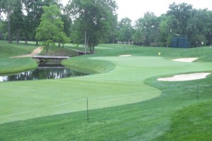 Muirfield Village GC's No. 4 hole.