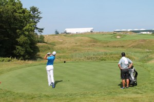 One of my favorite photos I took all year on the Whistling Straits' 1st hole. I never did find out who is that golfer.