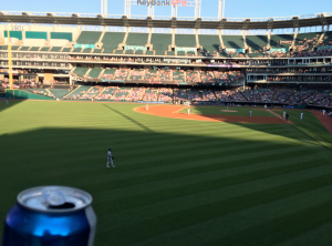 Royals Indians before Infante Home Run
