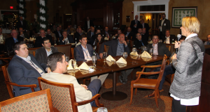 Annika speaks to an intimate group of 75 industry professionals at the 2015 Golfdom Summit.