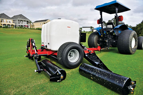 """According to Michigan State's Thomas Nikolai, more research is needed to determine optimal weight for fairway rollers. """"We don't want the roller to weigh too much,"""" he says."""