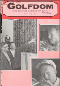 1962 Arnold Palmer Golfdom cover