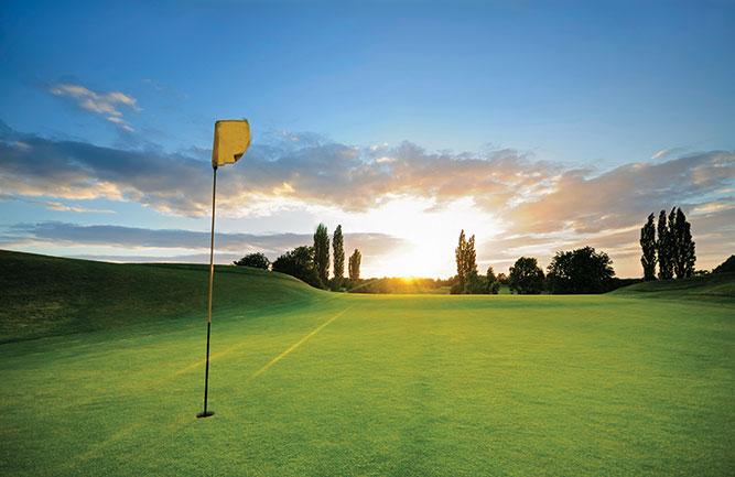 golf course at sunset. photo: iStock.com/ChrisHepburn