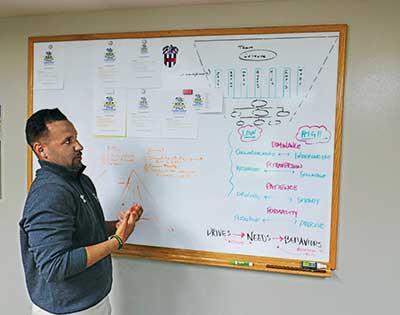 Carlos Arraya at white board