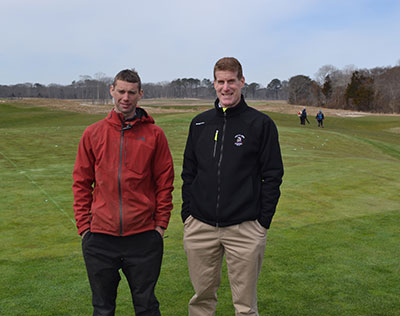 Bolin and Jennings standing in the fairway