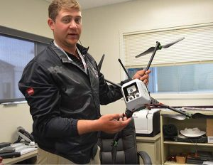 Vanden Bosch displays the GreenSight Agronomics drone