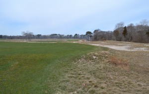 Shinnecock Hills Golf Club in mid-March. The course is still waking up from a cold winter with some of the sandy native areas being restored on the course.