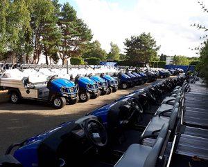 350 Club Car vehicles at Le Golf National   Photo: Club Car