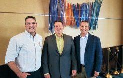 Craig MacGregor (left) and Bill Roddy (right) with Primera CEO Todd Ferguson.