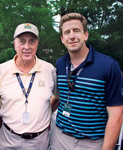 Architect Rees Jones and Andrew Wilson, superintendent, Bethpage State Park, at the 2016 PGA Championship | Photo: Golfdom staff