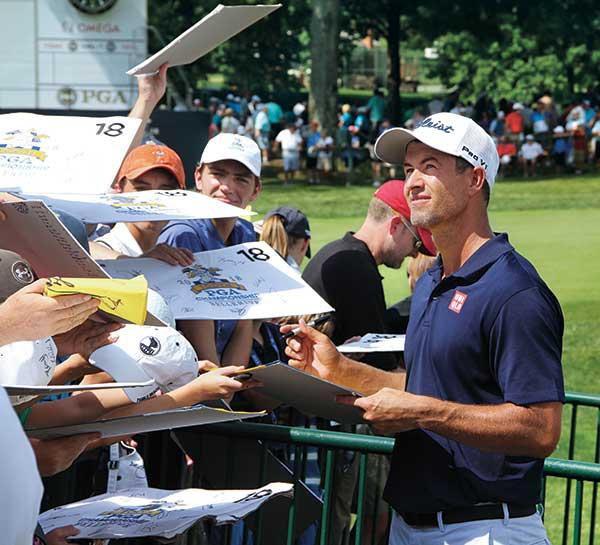 Adam Scott at 2018 PGA Championship (Photo by: Seth Jones)