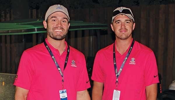 Seth Smith and Justin Thomas at 2018 PGA Championship. (Photo by: Seth Jones)