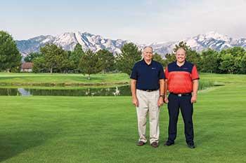 Todd Barker Jr. and Todd Barker Sr. (Photo by: Tom Lebsack)