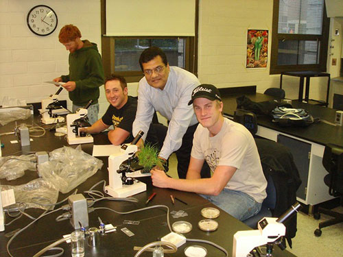 Wakar Uddin, Penn State plant pathologist in his lab   Photo provided by Wakar Uddin