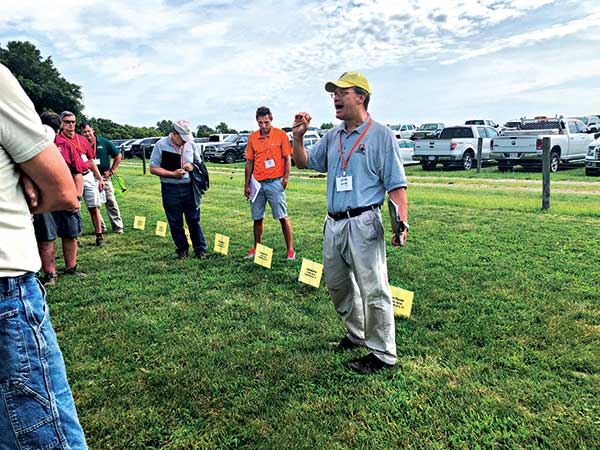 Dave Gardner, Ph.D., at OTF Field Day (Photo: Abby Hart)