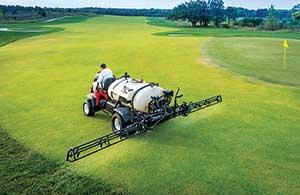 Golf course spray application (Photo: PBI-Gordon)