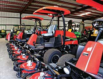 Close-up of turf equipment (Photo: Global Turf Equipment)