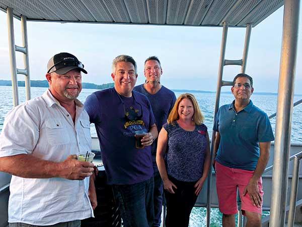 Kubota cruise attendees on Lake Lanier (Photo: Golfdom)