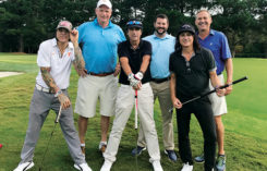 Kyle Johnson and team pose with Alice Cooper and band (Photo: Ted Kiegiel)