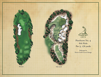 Pinehurst No. 4, Hole No. 6 rendering (Photo: Pinehurst Resort)