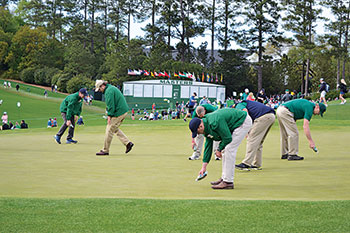Grounds team at 2018 Masters (Photo: Seth Jones)