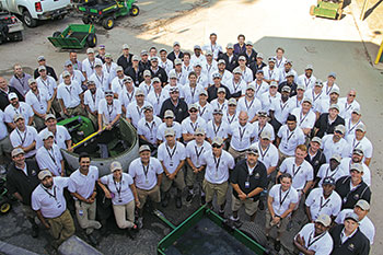 Maintenance Team at Bellerive CC (Photo: Seth Jones)