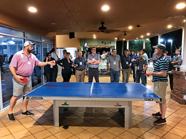 Pingpong tournament at Golfdom Summit (Photo: Abby Hart)