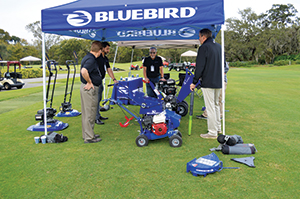 Bluebird Turf Products demo area (Photo: Kelly Limpert)
