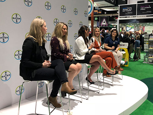 Our very own Bethany Chambers leading the Bayer Women in Golf Panel. (Photo: Golfdom staff)