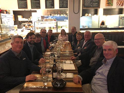 The Anuvia Legends dinner, featuring familiar faces such as Bob Farren, Ted Horton and Matt Shaffer. Photo: Golfdom staff