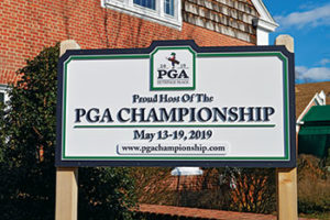 PGA sign at Bethpage (Photo: Abby Hart)