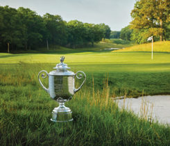 Bethpage with trophy (Photo: The PGA of America)
