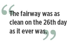 Clean fairway quote (Graphic: Golfdom staff)
