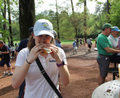 The peach ice cream sandwich had to be my favorite culinary treat from the Masters. Photo: Seth Jones