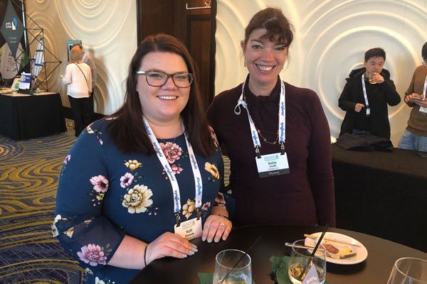 Pictured here are Kylli Paavola (left) and Katie Swift, both with Liphatech, attending the welcome reception at the 2019 CropLife America and RISE Regulatory Conference. Photo: RISE