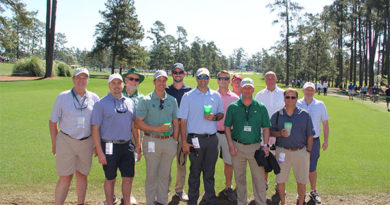 The second annual Friends of Golfdom meeting at Augusta National drew a good group, but Jones ran into even more friends throughout the day. Photo: Seth Jones