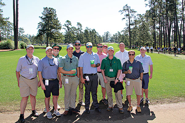 Friends of Golfdom at Augusta National (Photo: Seth Jones)