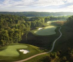 Aerial of the 2nd hole Potomac Shores. Photo: Troon