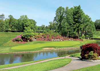 The 16th hole at Columbia Country Club plays at a beautiful 152 yards. (Photo: Columbia CC)