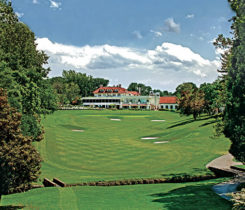 A shot of the picturesque fairway on No. 18 at Columbia CC. (Photo: Columbia CC)