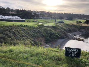 Forced Carry on Number 8 at Pebble Beach (Photo: Seth Jones)