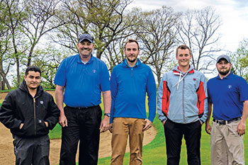 From left, Alfredo Tello, mechanic, Jeff VerCautren, superintendent, Matt Wagner, Zane Hartley and Aaron Harvey, assistant superintendents. (Photo: Charlie Dahlin)