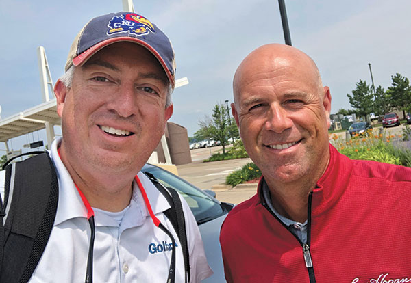 Editor-in-Chief Seth Jones (left) nabbed a pic with 2009 Open Championship winner Stewart Cink. (Photo: Seth Jones)