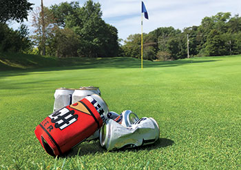 Beer can on a golf course (Photo: Seth Jones)