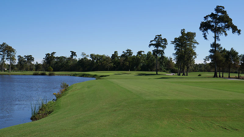 A view from tee to green of the 17th hole at TPC Louisiana. (Photo: TPC Louisiana)