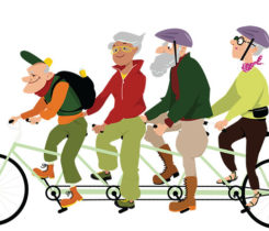 Retirees biking (Photo: Aleutie/iStock Getty Images plus/Getty Images)
