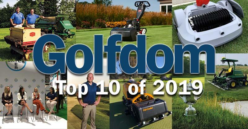 (Photos clockwise from top left: Jim Henderson, Toro, Golfdom Staff, Golfdom Staff, The PGA of America, Cub Cadet, Alan FitzGerald, Golfdom Staff)